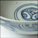 Bol blanc bleu en porcelaine