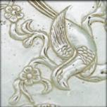Plaque en jade céladon aux phénix accolés, Qing XIXe