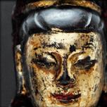 Guanyin en bois laqué et doré, Ming XVIIe