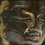 Statue d'akshobhya en alliage de cuivre doré