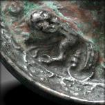 Miroir miniature en argent, Tang